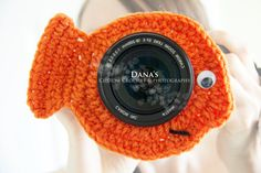Goldfish Camera Lens Buddy  Photography  by DanasCustomCrochet,