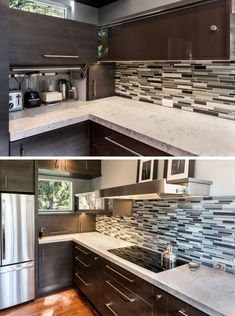 Kitchen Design Idea - Store Your Kitchen Appliances In A Dedicated Appliance Garage // The door to this appliance garage simply lifts up.