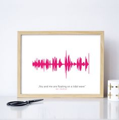 Ein individuelles Geschenk zu Weihnachten: Dein Lieblingslied als Kunstdruck / a personal gift idea: your favorite song as an artprint made by Formart-Zeit für Schönes via DaWanda.com