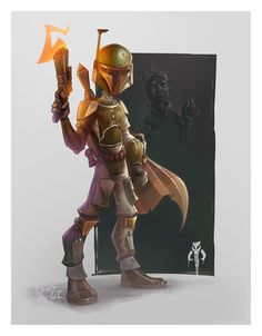 Boba Fett and Han Solo in Carbonite   Created by Aurelien Baarsch