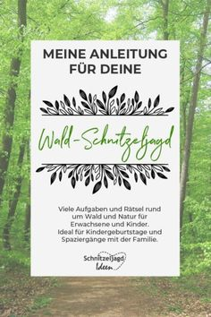 Wald Schnitzeljagd & Schatzsuche Instructions for a scavenger hunt in the forest. Many puzzles for children and adults as a template. Infant Activities, Activities For Kids, Diy Crafts To Do, Kids Crafts, Forest Games, Scavenger Hunt Birthday, Next Children, 3 Kids, Outdoor Games