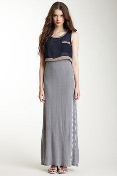 Crop Top Overlay Maxi Dress by Freeway on @HauteLook