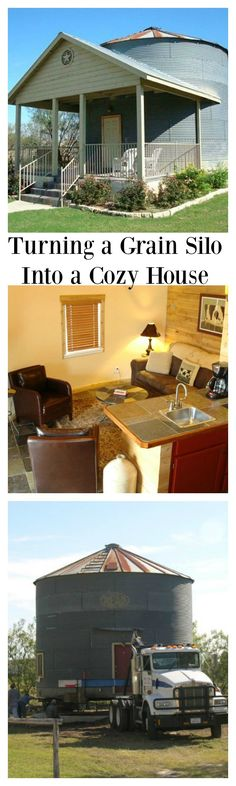 What's more country than converting a 1940s grain silo into a tiny vacation rental? On the property of the Gruene Homestead Inn in New Braunfels, Texas you'll find the Grain Silo Tiny House, a one-bedroom, loft apartment with a country style front porch.