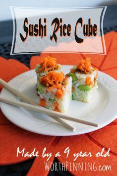 Sushi Rice Cubes