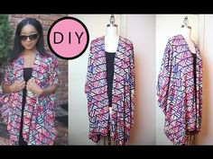 HOW TO CONVERT OLD SHAWL 2 CARDIGAN - EASY MAKING - DIY - YouTube