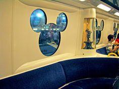 Cute windows of MTR to HK Disneyland