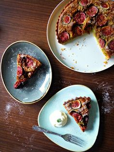 The Spoon and Whisk: Fig and Pistachio Frangipane Tart