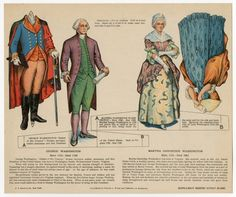 75.2116: George Washington & Martha Dandridge Washington | paper doll set | Paper Dolls | Dolls | National Museum of Play Online Collections | The Strong