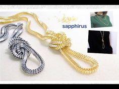 【ハンドメイド】金属みたいなビーズネックレスの作り方 Odd count tubular peyote with bugle beads.How to make a necklace. - YouTube