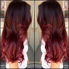 Red and brown ombre. I want this badly.