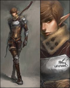 NIce style.  Another elf, this one with a slightly modern flair…