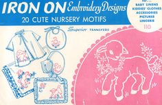 Superior 110 Vintage Hand Embroidery PATTERN 110 Nursery Designs Lambs Chicks Elephants Ducks PDF instant download by BlondiesSpot on Etsy https://www.etsy.com/listing/201994565/vintage-hand-embroidery-pattern-110
