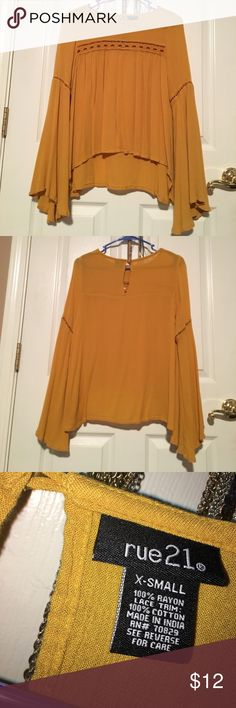 x-small yellow blouse worn once. great condition. from rue 21 Rue 21 Tops Blouses