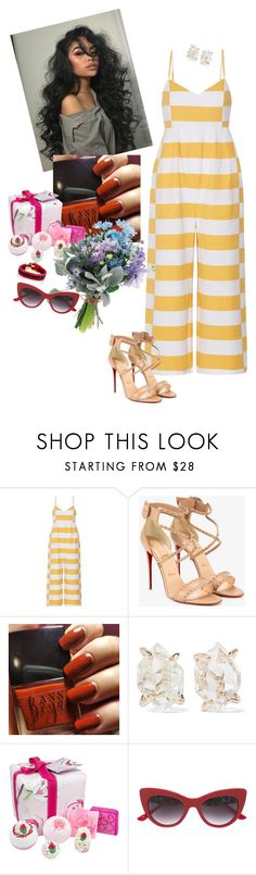 """You."" by audrey-balt on Polyvore featuring Mara Hoffman, Christian Louboutin, Melissa Joy Manning, Bomb Cosmetics, Dolce&Gabbana and Chloé"
