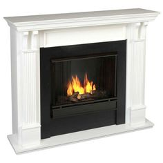 Small Ventless Gas Fireplace Design ~ http://www.lookmyhomes.com/make-the-room-more-beautiful-concept-with-ventless-gas-fireplace/