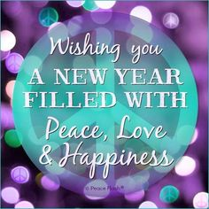 Peace love and happiness 2016