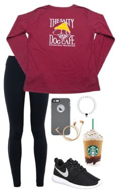 """""""Maybe I'm just in love when you wake me up//read d"""" by toonceyb ❤ liked on Polyvore featuring NIKE, OtterBox, Happy Plugs, women's clothing, women's fashion, women, female, woman, misses and juniors"""