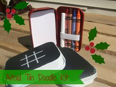 Altoid Tin Doodle Kit- awesome idea, great to have in your purse for the kids while you're waiting at a restaurant, in the car, at church... anytime they're bored.