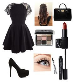"""""""fancy dinner"""" by nancyayala205 on Polyvore featuring Nly Shoes, NARS Cosmetics, Bobbi Brown Cosmetics, Luminess Air, Smashbox and Mulberry"""