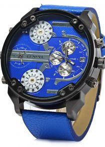 Genebra 409 Date Function Masculino Relógio Quartz Quatro Movt