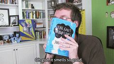 A word for the smell of a new book. | 23 Words For Book Lovers That Really Should Exist