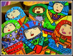 Russian Babushka Art.... I love....