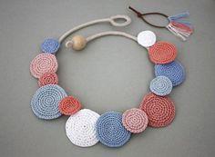 Collar círculos collar ganchillo moda de verano declaración