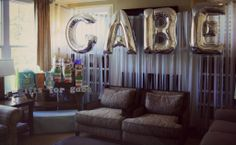 Baby Shower - Boy Decor  Name Balloons