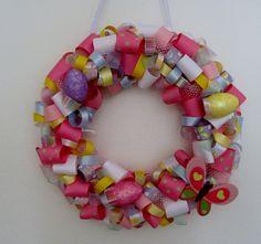 "12"" Easter Ribbon Wreath"