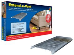 Allows you to place a piece of furniture over a heating/AC floor vent.