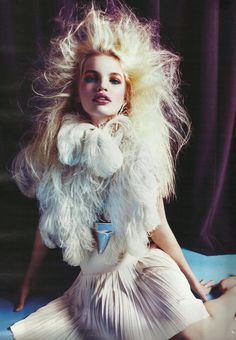Daphne Groeneveld in 'The Night Is Young' by Mario Sorrenti. W, March 2012.