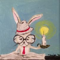 smart bunny Bunny, Snoopy, Fictional Characters, Art, Rabbit, Art Background, Cute Bunny, Hare, Kunst