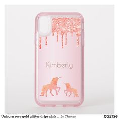 Shop Unicorn rose gold glitter drips pink girly speck iPhone case created by Thunes. Rose Gold Pink, Rose Gold Glitter, Orange Phone, Speck Cases, Pretty Tough, Samsung Galaxy Cases, Ipad Case, Iphone Case Covers, Apple Iphone