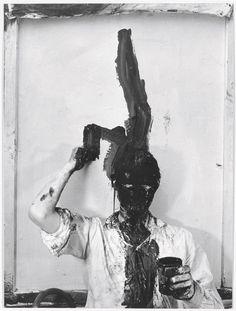 Günter Brus, Self-Painting I, 1964, Gelatin Silver Print, Hauser & Wirth Gallery