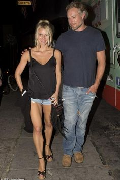 Jessica Simpson wearing Gucci Suede Studded Wedge Sandal in Black and Free People Totem Salvaged Alabama Crossbody Bag.