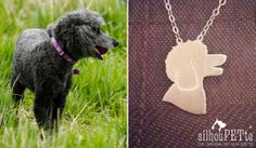 Poodle jewelry by silhouPETte. Great gift for mother's day, birthdays, and memorial keepsakes for the poodle-loving-lady in your life! www.silhouPETte.com