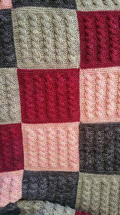 Ravelry: Kaðlabútateppi / cable square blanked by Auður Björt Skúladóttir Crochet Blanket Patterns, Baby Blanket Crochet, Knitting Patterns, Knit Rug, Knitted Baby Blankets, Baby Knitting, Ravelry, Diy Crafts, Colorful Quilts