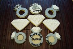 Diamond Theme Cookies -- love the sanding sugar!