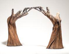 Trompe L'Oeil Ceramics    Christopher David White accurately captures the decay of wood through ceramics.