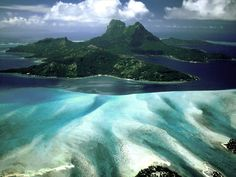 The Bora-Bora island, French Polynesia