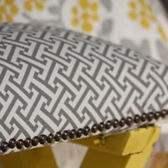 picnic bench make-over. love the fabric!