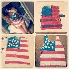diy flag shirt