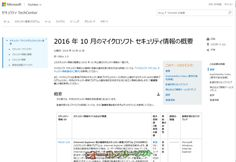 今日は Windows Update 緊急5件、重要4件 2016年10月12日