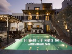 Offer of Week: Stay 9 Nights for 7 at our superb Elounda Solfez Villas .... and enjoy a journey into senses, with spectacular views over the Mirabelo Bay! Ready to Book : http://www.cretetravel.com/hotel/elounda-solfez-villas/