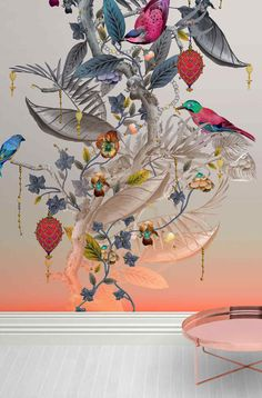 Kit Miles Ecclesiastical Botanica, average prices of for a standard roll of wallpaper Feature Wallpaper, Bird Wallpaper, Custom Wallpaper, Hanging Ornaments, Geometric Designs, Hobbies And Crafts, Beautiful Gardens, Wall Murals, Flower Art