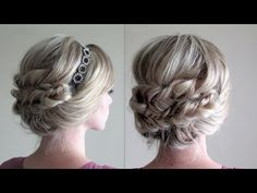 How to: Headband Updo and Fishtail Braids - YouTube.. Love It ♡ Definitely will try to do on me!