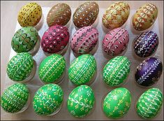 painted/dyed/decorated Easter egg