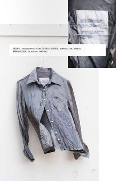 Maison Martin Margiela REPLICA shirt made from a mens button-up from the 70's.