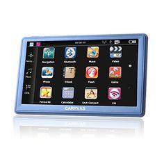 CARRVAS 7.0 Inch LCD Touch Screen Navi / Auto Navigationsger�t / Kfz GPS Navigation System mit neuesten Europa und UK Karten, Unterst�tzt TF Karte, Multimedia-Player 8GB 256MB