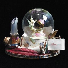 Tinker Bell Collectible Music Snowglobe You Can Fly Disney Peter Pan Retired NWT